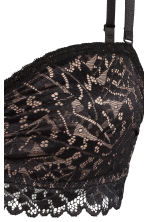 Lace bandeau bra - Black/Powder - Ladies | H&M CN 2