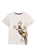 Printed T-shirt - Light grey/Lizard - Kids | H&M 2