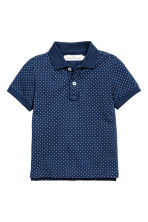 Polo shirt - Dark blue/Spotted -  | H&M CN 2