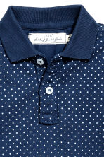 Polo shirt - Dark blue/Spotted -  | H&M CN 3