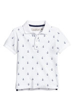 Polo shirt - White/Anchor - Kids | H&M 2