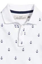 Polo shirt - White/Anchor - Kids | H&M 3