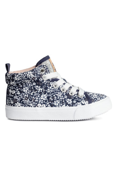 Hi-top trainers - Dark blue/Floral -  | H&M CN 1