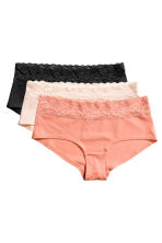 3-pack cotton shortie briefs - Porcelain - Ladies | H&M CN 1