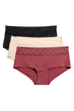 3-pack cotton shortie briefs - Burgundy - Ladies | H&M CA 2