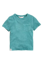 T-shirt in jersey flammé - Turchese scuro - BAMBINO | H&M IT 2