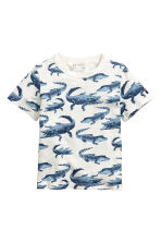 Printed T-shirt - White/Crocodiles - Kids | H&M CN 2