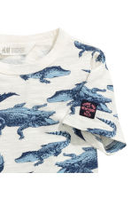 Printed T-shirt - White/Crocodiles - Kids | H&M CN 3