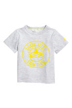 Printed T-shirt - Light grey marl - Kids | H&M 2