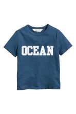 Printed T-shirt - Dark blue - Kids | H&M CN 2