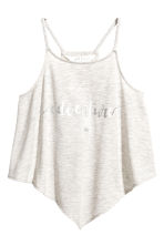 Printed strappy top - Light beige marl - Kids | H&M 2