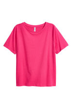 Cotton-blend T-shirt - Cerise - Ladies | H&M 2