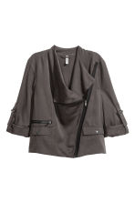 Short lyocell jacket - Dark grey - Ladies | H&M CN 2