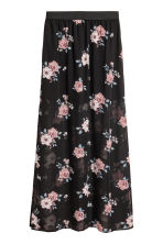 Long skirt - Black/Floral - Ladies | H&M 2