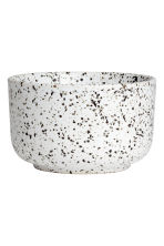 Hand-painted stoneware bowl - White - Home All | H&M CN 2