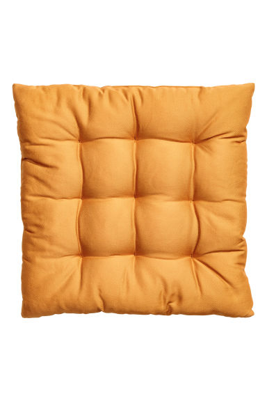 Solid colour seat pad - Mustard yellow - Home All | H&M CN 1