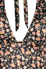 H&M+ Halterneck swimsuit - Black/Floral - Ladies | H&M 3