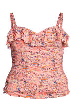 H&M+ Draped bikini top - Pink/Paisley - Ladies | H&M 2