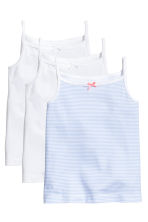 3-pack jersey strappy tops - White - Kids | H&M 1