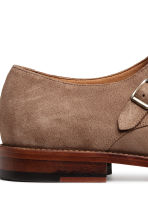 Suede monkstrap shoes - Dark beige - Men | H&M CN 4