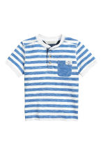 Henley shirt - Blue/White/Striped -  | H&M 2