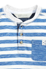 Henley shirt - Blue/White/Striped -  | H&M 3