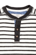 Henley shirt - Black/White/Striped -  | H&M CA 3