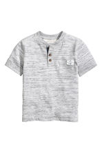 Henley shirt - Light grey marl - Kids | H&M 2