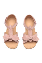 Suede sandals - Old rose -  | H&M 3