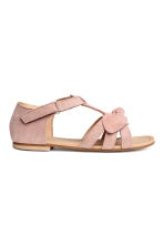 Suede sandals - Old rose -  | H&M 2