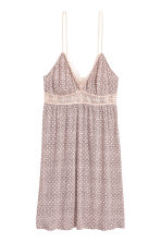 Nightslip with lace - Powder/Patterned - Ladies | H&M 1