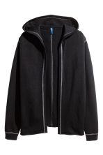 Hooded cardigan - Black - Men | H&M CN 2