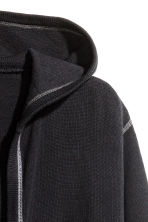Hooded cardigan - Black - Men | H&M CN 3