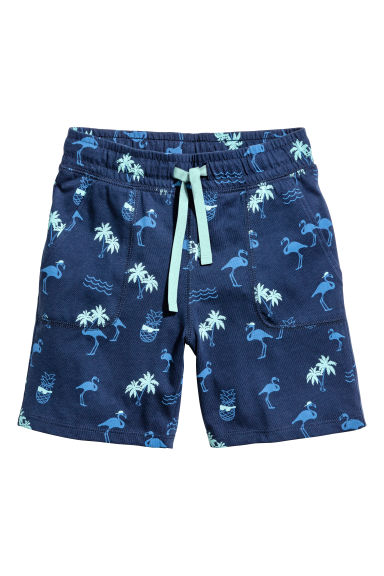 Jersey shorts - Dark blue/Flamingo -  | H&M