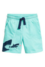 Jersey shorts - Mint green/Sharks - Kids | H&M CA 2