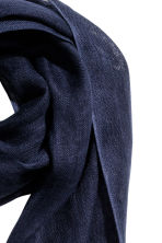 Linen scarf - Dark blue - Men | H&M CN 2