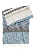 Patterned cotton scarf - Natural white/Blue - Men | H&M 2