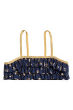Frilled bikini - Dark blue/Patterned - Kids | H&M CA 2