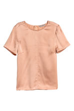 Top maniche corte in seta - Beige cipria - DONNA | H&M IT 2