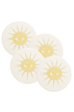 Lot de 4 dessous de verre - Blanc/soleil - Home All | H&M FR 1