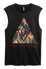 Printed vest top - Black - Men | H&M 2