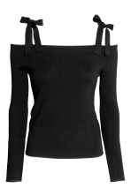 Cold shoulder top - Black - Ladies | H&M CN 2