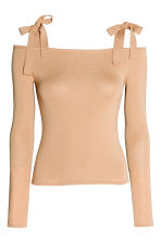 Cold shoulder top - Beige - Ladies | H&M 2