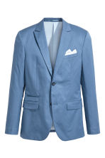Blazer in cotone Slim fit - Blu tortora - UOMO | H&M IT 2