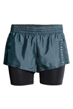 Running shorts - Dark turquoise - Ladies | H&M CN 2