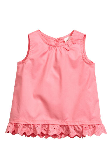 Cotton blouse - Coral pink - Kids | H&M CA
