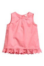 Cotton blouse - Coral pink - Kids | H&M 1