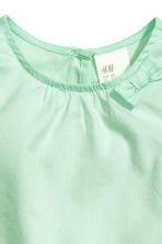 Cotton blouse - Mint green - Kids | H&M CN 3