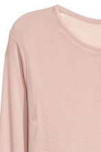 Long-sleeved mesh top - Light old rose - Ladies | H&M CN 3