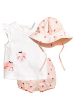 3件組套裝 - Light pink/Strawberries -  | H&M 1